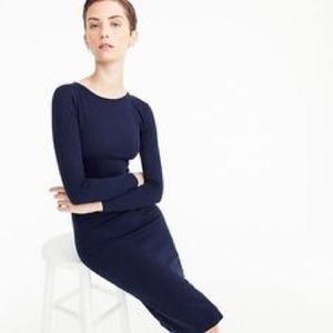 J. Crew Navy Knit Sheath Dress Size 10